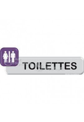 Plaque de porte Toilettes H/F VINYLO
