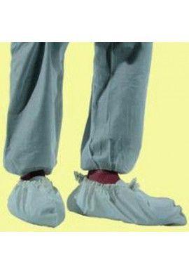 Overshoes PE 130µ white grainy par carton de 100 paires