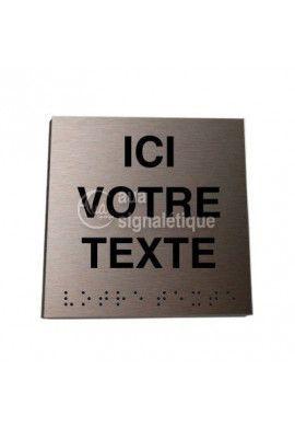 Plaque Alu Brossé Couleur Cuivre Braille Votre Texte*