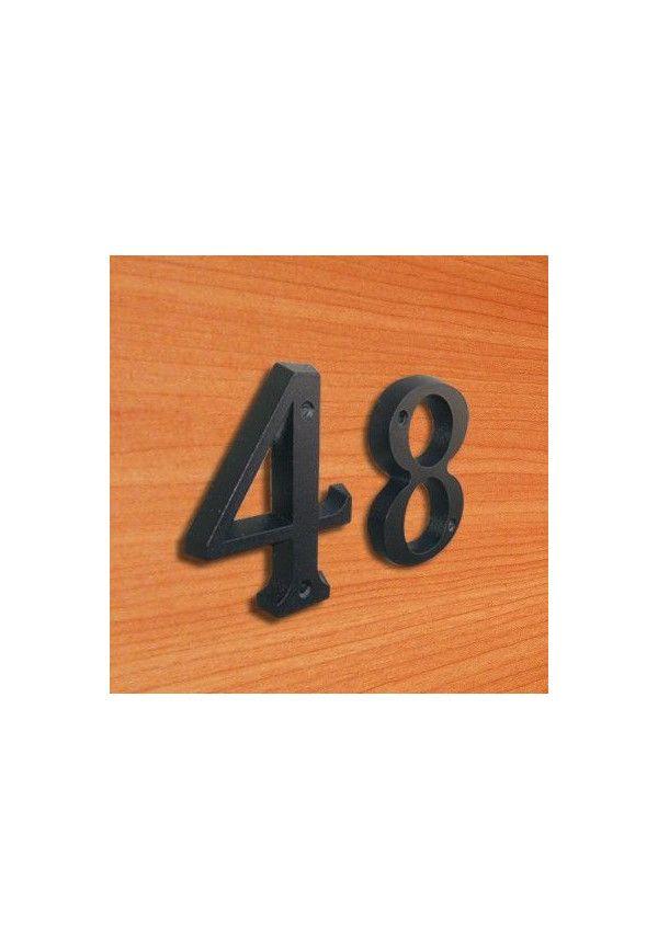 2 chiffres en relief - noir - H 80 mm