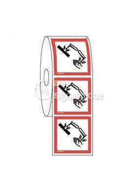 Étiquettes en Bobine - Produits Corrosifs