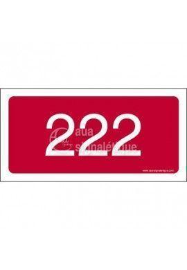 Plaque Numéro de chambre (Autocollant)