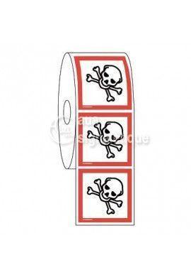 Étiquettes en Bobine - Produits Toxiques