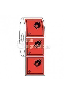Étiquettes en Bobine - N°2-1 Gaz Inflammables
