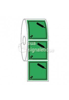 Étiquettes en Bobine - N°2-2 Gaz