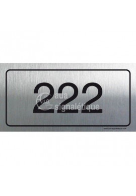 Plaque Numéro de chambre - Aluminium Brossé
