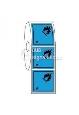 Étiquettes en Bobine - N°4-3 Gaz Inflammables Au Contact De L'eau