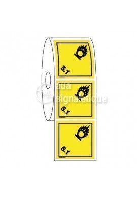 Étiquettes en Bobine - N°5-1 Matières Comburantes