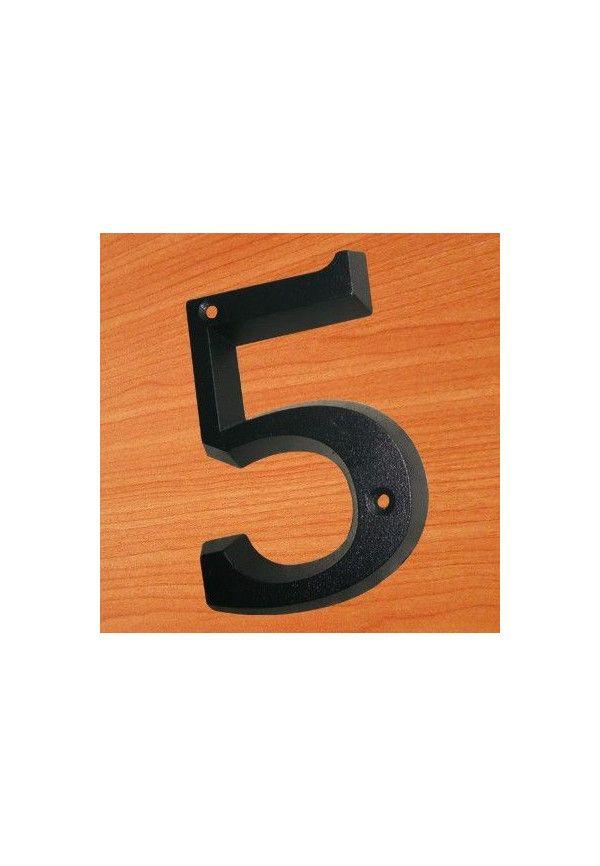 1 chiffre en relief - noir - H 80 mm