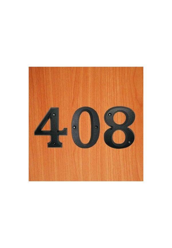 3 chiffres en relief - noir - H 80 mm
