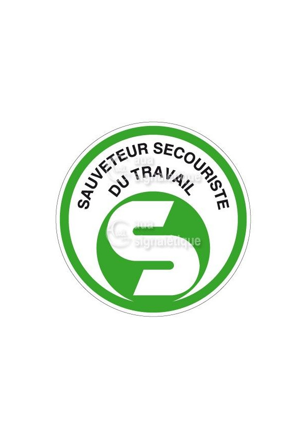 Etiquettes Sauveteur Secouriste Travail