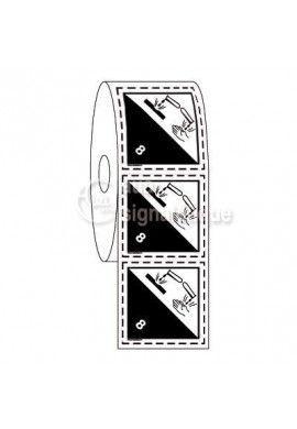 Étiquettes en Bobine - N°8 Corrosif