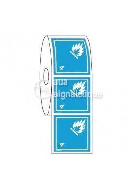 Étiquettes en Bobine - N°4-3 Gaz Inflammables Au Contact De L'eau-Blanc
