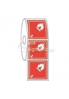 Étiquettes en Bobine - N°2-1 Gaz Inflammables-Blanc