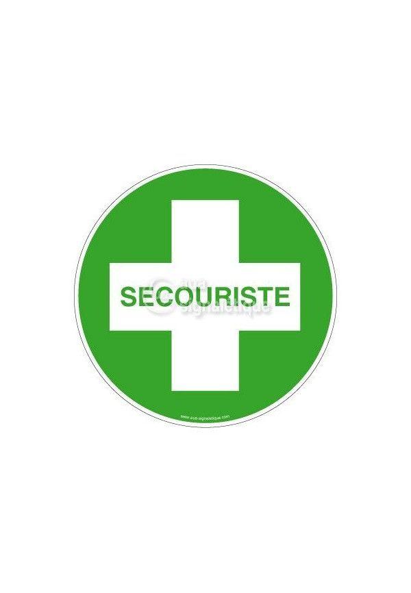 Etiquettes Secouriste