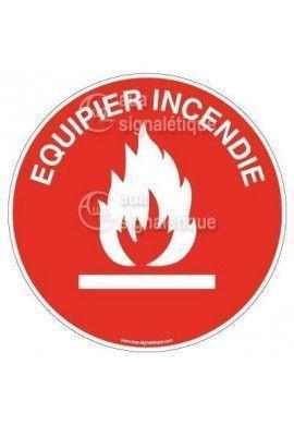 Lot 50 Etiquettes Equipier Incendie