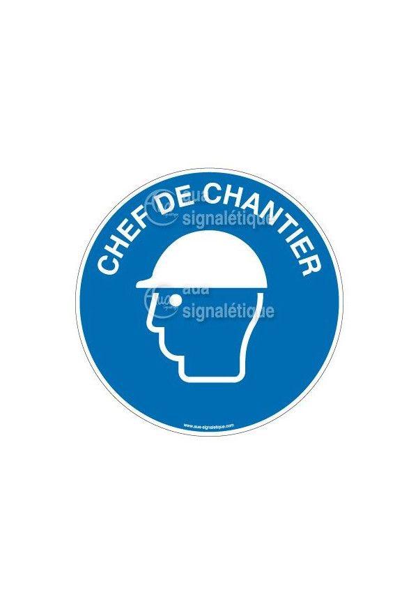 Etiquettes Chef de Chantier