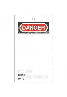 Etiquette de Sécurité - Danger