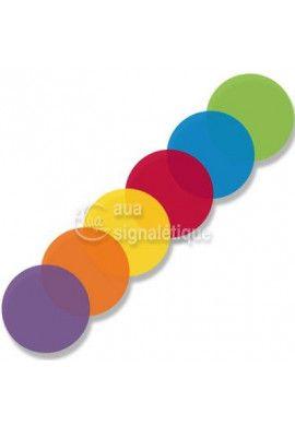 Etiquettes Transparentes colorées