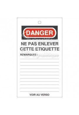 Etiquette de Sécurité - Ne pas enlever cette etiquette