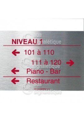 Directionnelle Personnalisé Aluminium Brossé