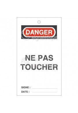 Etiquette de Sécurité - Danger Ne pas Déplacer