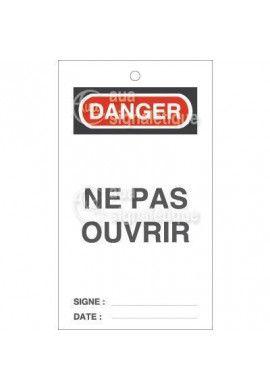 Etiquette de Sécurité - Ne pas ouvrir