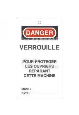 Etiquette de Sécurité - Vérouillerpour protéger les ouvriers réparant cette machine