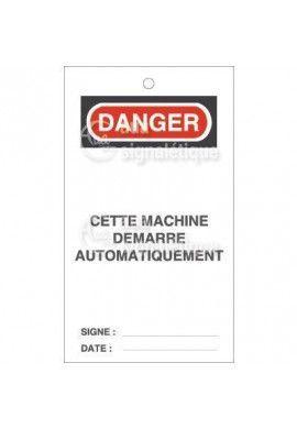 Etiquette de Sécurité - Cette machine démarre automatiquement