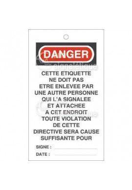 Etiquette de Sécurité - Cette étiquette ne doit pas être enlevée V2