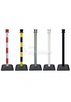 Poteau PVC - Jaune/Noir - Socle à lester 5.5kg