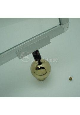 Support doré horizontal - A4 - poteau à corde