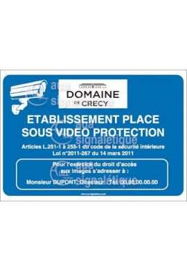 Panneau Video Protection, Logo Personnalisable