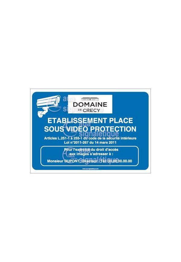 Panneau Video Protection, Logo Personnalisable
