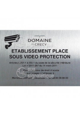 Panneau Video Protection, Aluminium Brossé