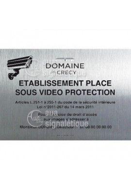 Panneau Video Protection, Alu Brossé