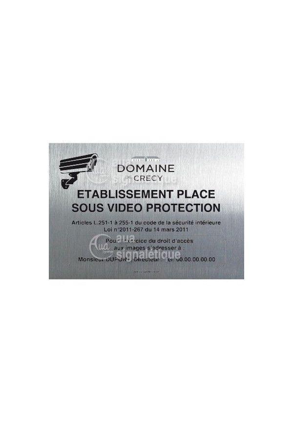 Panneau Video Protection, Aluminium Brossé