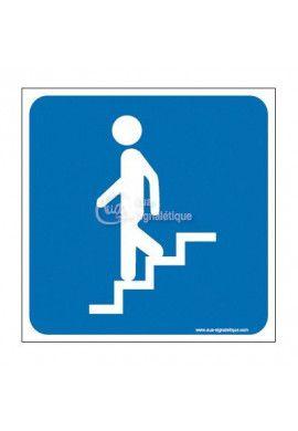 Plaque de porte Escalier Descendant