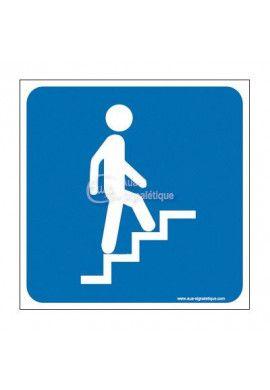 Plaque de porte Escalier Montant