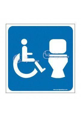 Plaque de porte Toilettes handicapés + Cuvette