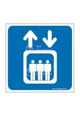 Plaque de porte Ascenseur
