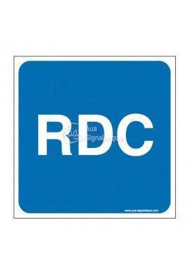 Plaque de porte RDC