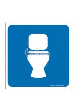 Plaque de porte WC