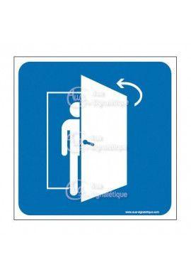 Plaque de porte Fermez la Porte