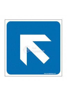 Plaque de porte Flèche de direction en haut à gauche