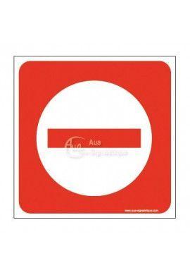 Plaque de porte Sens Interdit