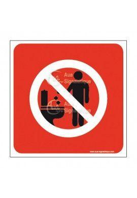 Plaque de porte Ne rien jeter dans ces WC