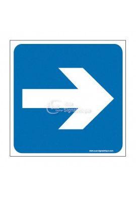 Plaque de porte Flèche de direction vers la droite