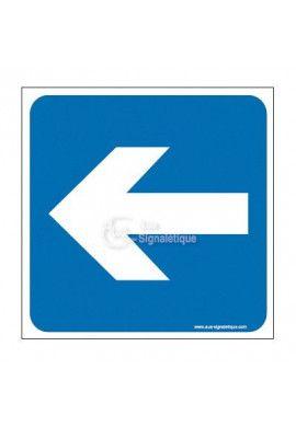 Plaque de porte Flèche de direction vers la gauche
