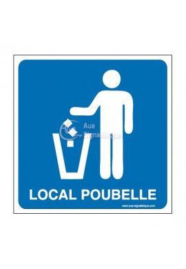 Plaque de porte Local Poubelle 02